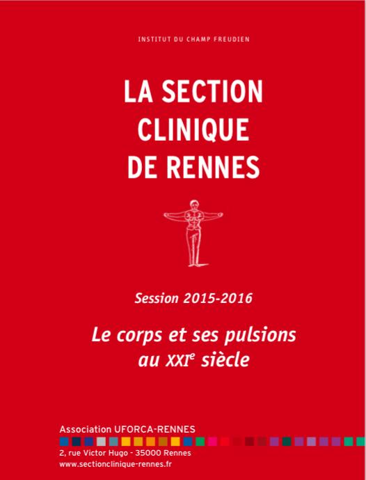 Affiche Corps et Pulsions 2015:16